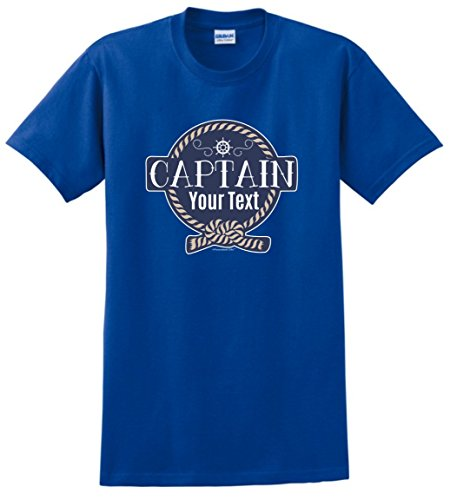Personalized Captain Sailing Boating T Shirt