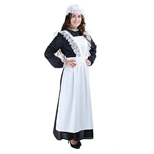 Charm Rainbow Women's Victorian Maid Costume Pioneer Colonial Dress for Halloween Party(L) for $<!--$25.99-->