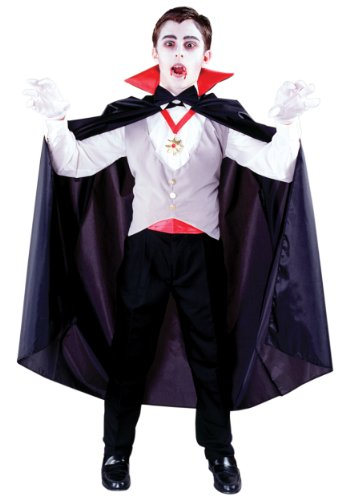 Fun World unisex-adult Big Boys' Classic Vampire Costume Medium (8-10)
