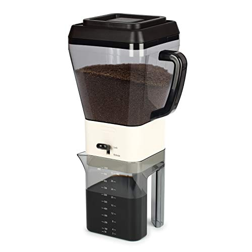 (Urban Trend Caffeine Hub Cold Brew Coffee & Tea Maker - 32 Oz - Reusable Stainless Steel Filter - Compact Storage - Nesting Lids - Perfect for Hot or Iced Coffee & Tea - BPA Free - Dishwasher Safe)