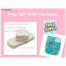 FREE GIFT WITH PURCHASE! 10/Pack KaWaii Baby Premium Label Bamboo Inserts (6-22 lbs) + 1 FREE DIAPER