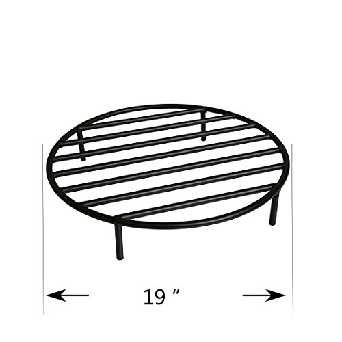 Onlyfire Heavy Duty Round Fire Pit Grate with 4 Legs for Outdoor Campfire Grill Cooking, 19 Inch (Outdoor Fire Pit Lowes)