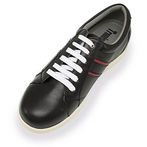 avec Noir Modèle Masaltos Chaussures Réhaussantes Peau Semelle Taille Homme en la Pour Augmentant Fabriquées Mantova 7cm Jusqu'À aHfIwTx