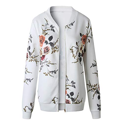 HHei_K Womens Casual Floral Print Long Sleeve Sweatshirt Jacket Pockets Zip up Cardigan Coat by HHei_K (Image #1)