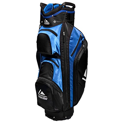 LONGRIDGE GOLF BAG EXECUTIVE CART BAG, BLACK / BLUE