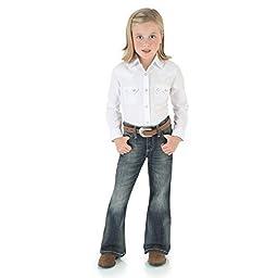 Wrangler 09MWG Girl\'s Premium Patch Jean (7-14), Denim 10-REG