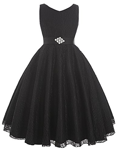 Black Lace Flower Girl Dresses for Wedding 2-3 Years (Kids Black Dresses)
