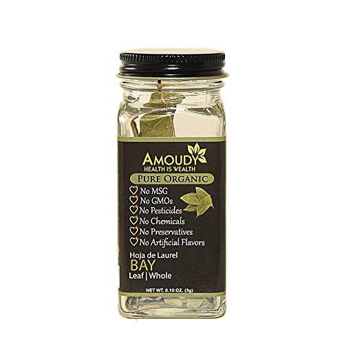 AMOUDY, Pure Organic Bay Leaf Whole Spice, 0.10 oz