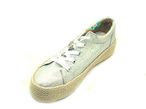 Argento Cafenoir Tessuto 204 Dh903 In Lurex E18 Café Sneakers Donna Scarpa Noir wBCnqxgZ