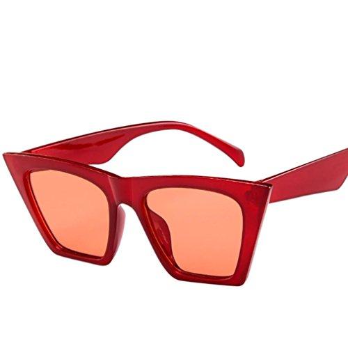 Le sole UV Occhiali vintage Occhiali Donne Oversized Rosso signore sole Sunglasses Oversized Eyewear retrò Cat per 400 Occhio da da Sun Gatto xSIwwqf