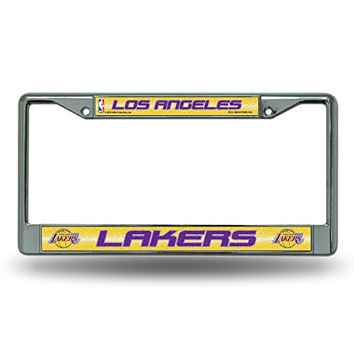 lakers license plate frame chrome - 2
