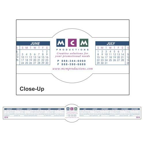 Circle Removable Adhesive Computer Calendar by Promoswithimprint