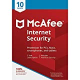 Office Products : McAfee Internet Security, for PC or Mac, 10 Devices, 1 Year Subscription