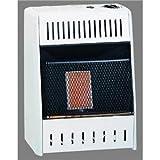 Kozy World KWN109, 6K BTU Natural Gas Infrared Wall Heater, Cream