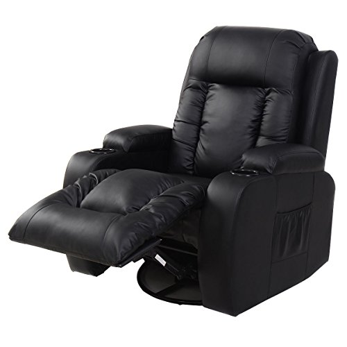 Tangkula Pu Leather Massage Chair Home Office Recliner