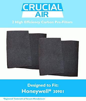 Crucial Air 2 Honeywell and Hunter Replacement Carbon Pre-Filters Fits Honeywell and Hunter 30901 Compare to Part # 30901, 30903, 30907, 30958, 30959, 30907, 30909, 30927