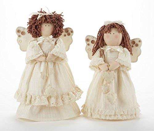 Delton Products 16 Inches Cream Angel Stump with Hearts Collectible Dolls