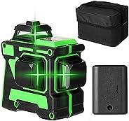 Cuculo Ferramenta de Nível Laser Multifuncional 3D 12 Linhas Linhas Horizontais Verticais com Função de Autoni