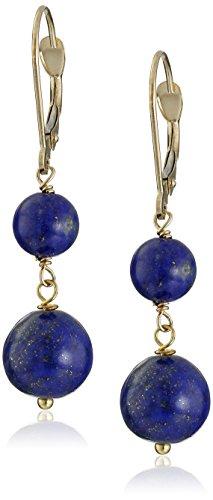 14k Yellow Gold Lapis Lazuli Drop Earrings 14k Yellow Gold Lapis Ring