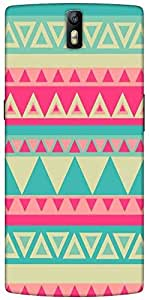 Snoogg Aztec Pink Designer Protective Back Case Cover For One Plus One