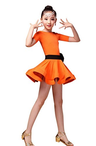 [Toddler Baby Girls Professional Team Dance Class Dress for Samba Cha Cha Latin Tango for 12-13Y] (Latin Costumes Dresses)