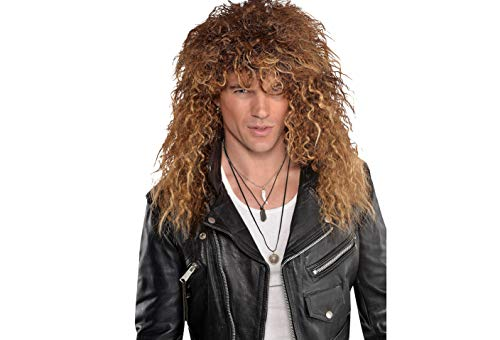 Amscan 846793 Glam Rocker Wig, Brown, One Size