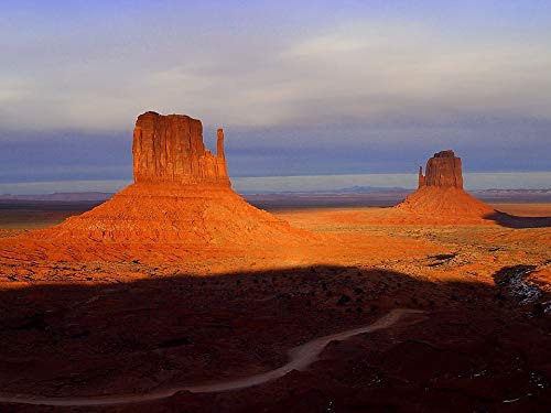 (Home Comforts Framed Art for Your Wall Monument Valley Route 66 Loneliness USA Arizona Vivid Imagery 10 x 13 Frame)