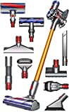 Dyson V8 Absolute Cordless Handheld HEPA Vacuum Cleaner with Manufacturer's Warranty, Quick Release Extension Hose, Stubborn Dirt Brush (+1 Extra Mattress Tool Bundle)