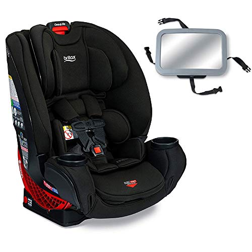 Britax One4Life Clicktight All-in-One Convertible Car Seat – Eclipse Black with Backseat Mirror
