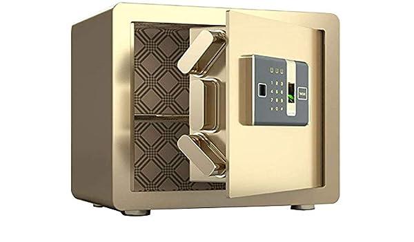 DBSCD Cajas Fuertes para la Pared del hogar Sistema biométrico antirrobo de Huellas Dactilares Caja de Dinero con partición Caja Fuerte de 42 * 32 * 35 cm (Oro): Amazon.es: Hogar