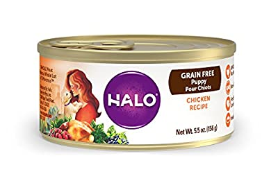 Holistic Grain Free Natural Wet Dog Food for Puppies by Halo, Purely For Pets