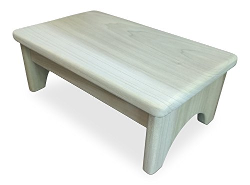 HollandCraft - The Perfect Wood Foot Stool - Unfinished -...