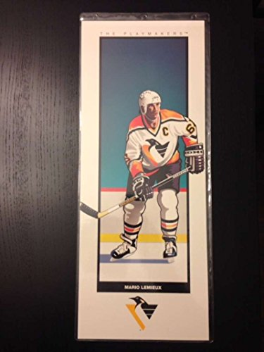 (Mario Lemieux The Playmakers Collection Collectible Trade Art 7in x 17in Official Sports Art Print P)