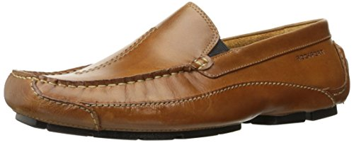 Rockport Men's Luxury Cruise Center Stitch Slip-On Loafer- Tan-10 -