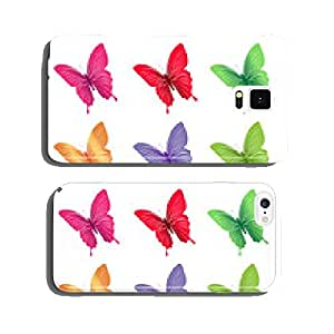 Set of Colorful Butterflies Isolated for Spring cell phone cover case Samsung S6
