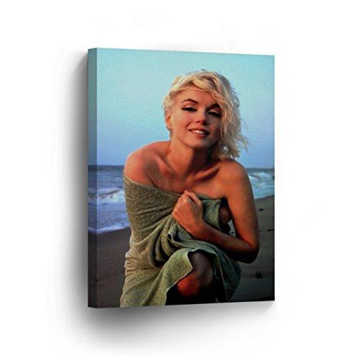 Marilyn Monroe at The Beach in Towel Canvas Print Decorative Art Modern Wall D