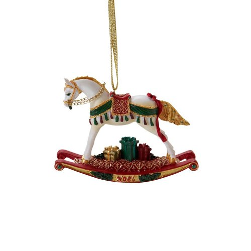 Enesco Trail of Painted Ponies Noel Rocking Horse Pony Hanging Ornament with Tin 2.38-Inch ()