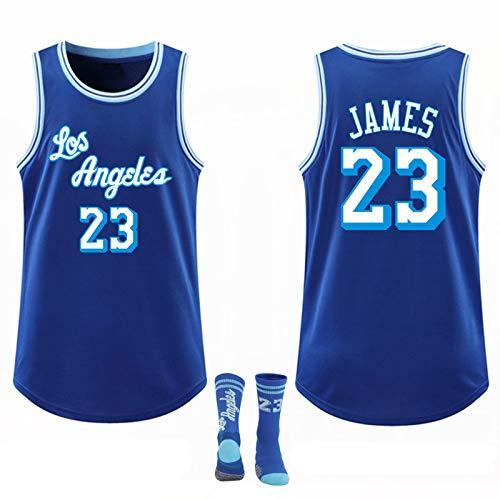 Basketbal Jersey, Reguliere seizoen Lakers City Edition James # 23 New Season Mesh Ademend Competition Training Pak…