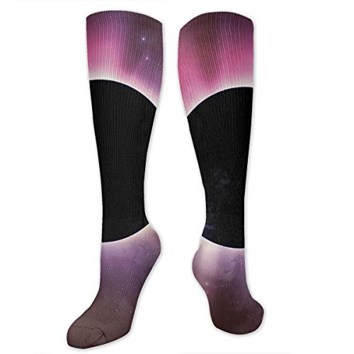 (Compression Socks Solar Eclipse Soccer Sports Knee High Tube Socks For Women And)