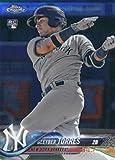 #10: 2018 Topps Chrome #31 Gleyber Torres New York Yankees Rookie Baseball Card - GOTBASEBALLCARDS
