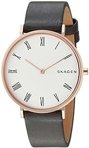 Skagen Slim Hald Grey Stainless Steel & Leather Watch SKW2674