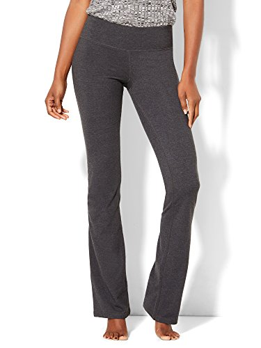 (New York & Co. Women's Grey Bootcut Yoga Pant Medium Graphite Heather Grey)