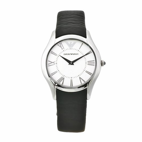 Emporio Armani Women's AR2021 Classic Black Leather Band Watch