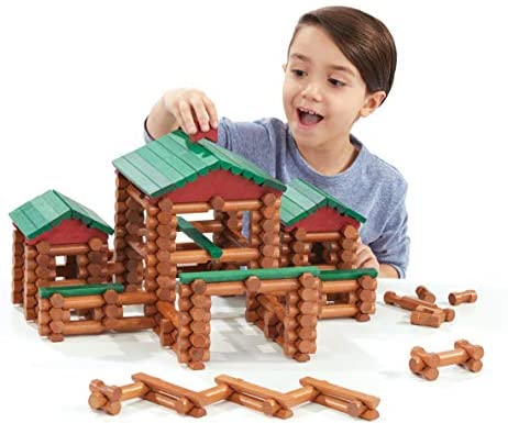 LINCOLN LOGS – Classic Farmhouse – 268 Pieces – Real Wood Logs – Ages 3+ – Best Retro Building Gift Set for Boys/Girls – Creative Construction Engineering-Top Blocks Game Kit – Preschool Education Toy