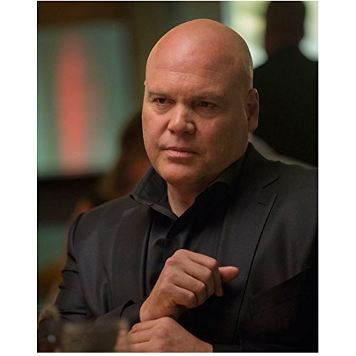 Daredevil Vincent D'Onofrio as Wilson Fisk Seated Grabbing Cuff 8 x 10 Photo