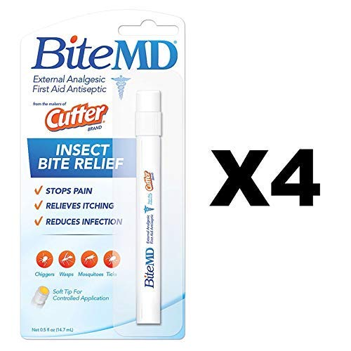 Cutter Bite MD Insect Bite Relief 0.5 oz (Pack of 4) by Cutter