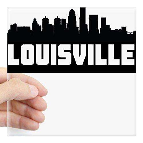 CafePress Louisville Kentucky Skyline Sticker Square Bumper Sticker Car Decal, 3