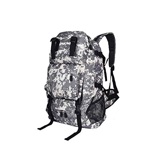 (Package Casual Rucksack Casual Daypac 40L Trekking Rucksack Water Resistant Military Army Combat Rucksack Hiking Backpack ZHAOYONGLI (Color : White Camouflage, Size :)