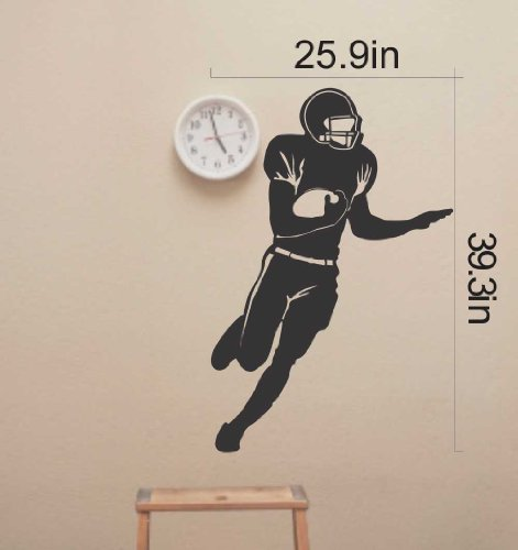 - Large--easy Instant Decoration Wall Sticker Mural Sport American Football Rugby-football Boy Gift