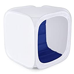 Neewer® 12\'\'x12\'\' inch/30x30 cm Photo Studio Shooting Tent Light Cube Diffusion Soft Box Kit with 4 Colors Backdrops for Photography(Red Dark Blue Black White)